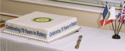 Celebrating 70 years in Rotary