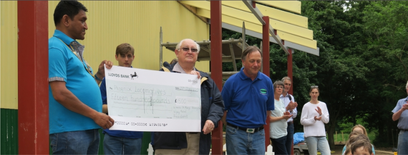 Donation to St Neots Miniature Railway