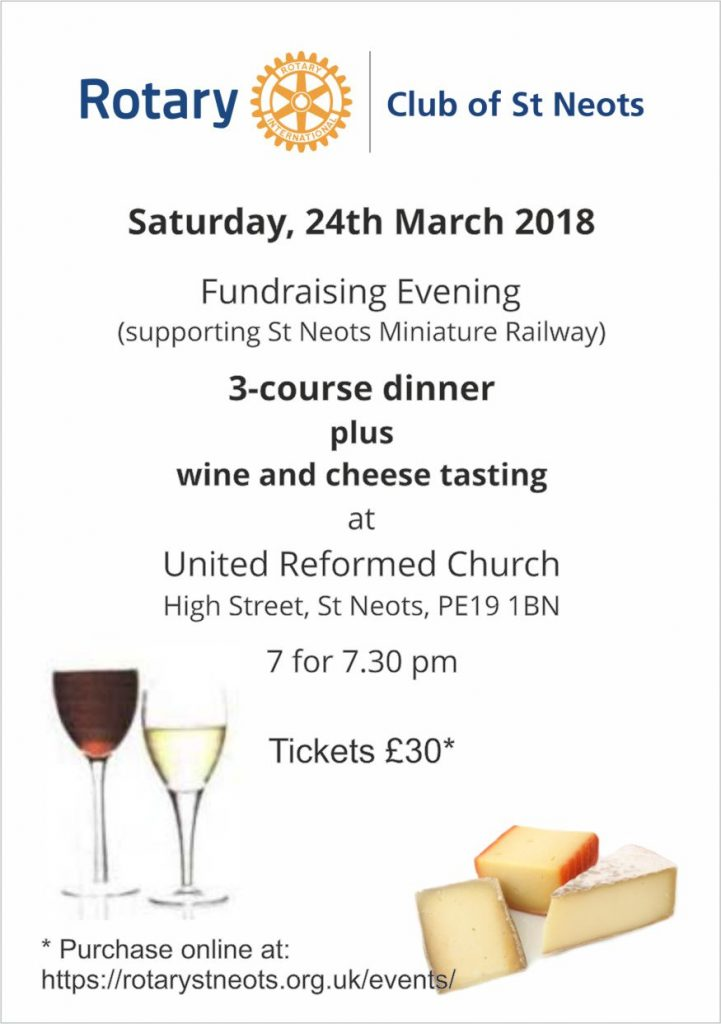 Details of the fundraising evening
